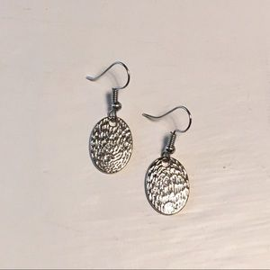Dainty Silver Tone Earrings
